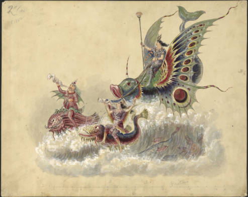 """Proteus."" 1882. Charles Briton. Howard-Tilton Memorial Library. Louisiana Research Collection. Accessed through Tulane University's Carnival Collection"