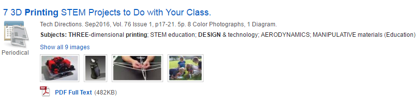 screenshot of article: 7 3d printing Stem projects to do with your class.