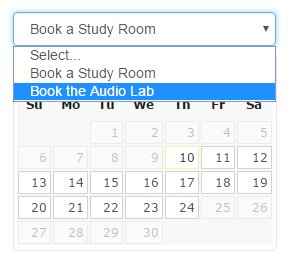 Audio Lab booking