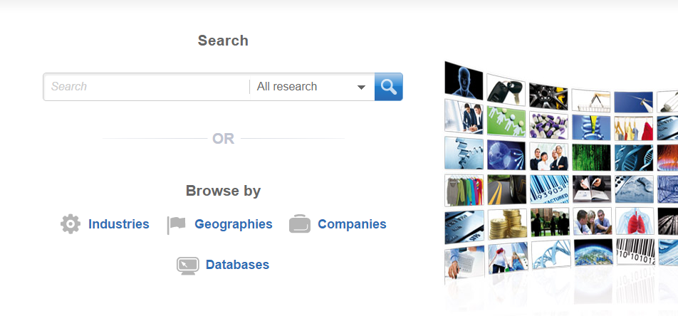 Picture of MarketLine Advantage search page