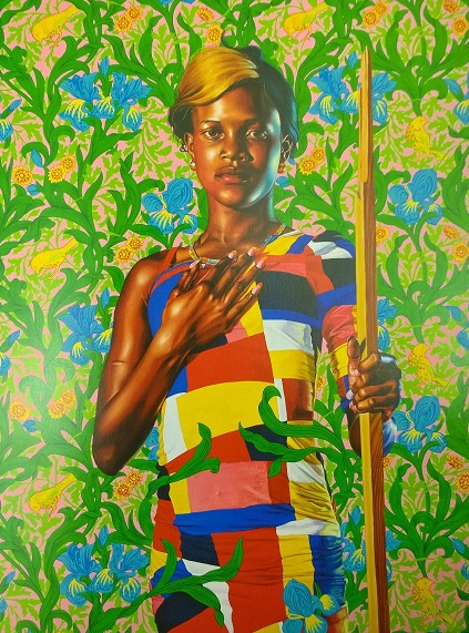 Saint John the Baptist in the Wilderness, a painting by Kehinde Wiley.