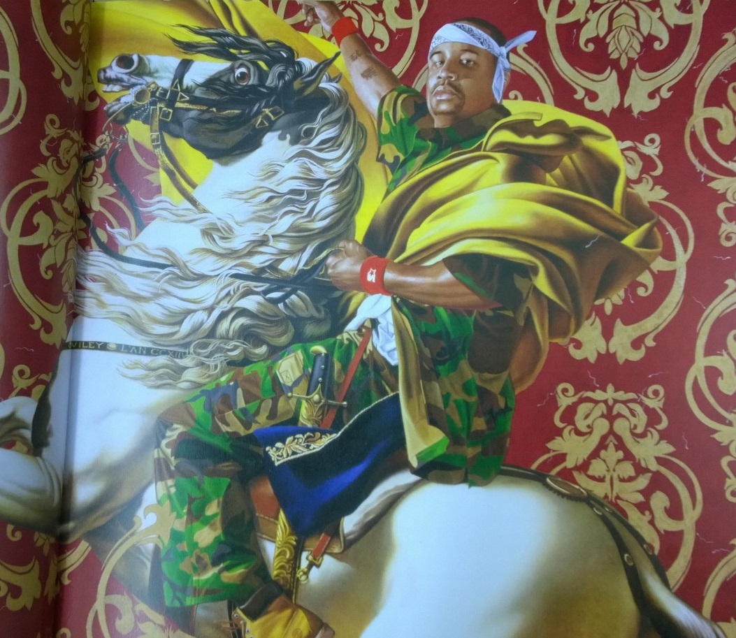 Napoleon Leading the Army Over the Alps, a painting by Kehinde Wiley
