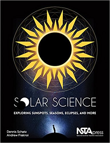 Book jacket for book called solar science