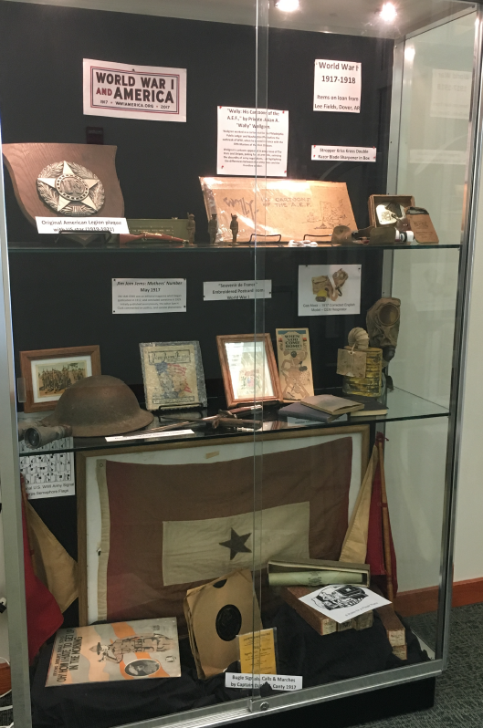 Exhibit of various ww1 artifacts