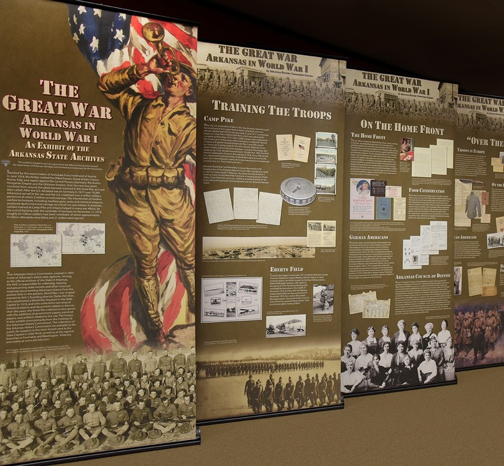 A panel exhibit on The Great War : Arkansas in World War I