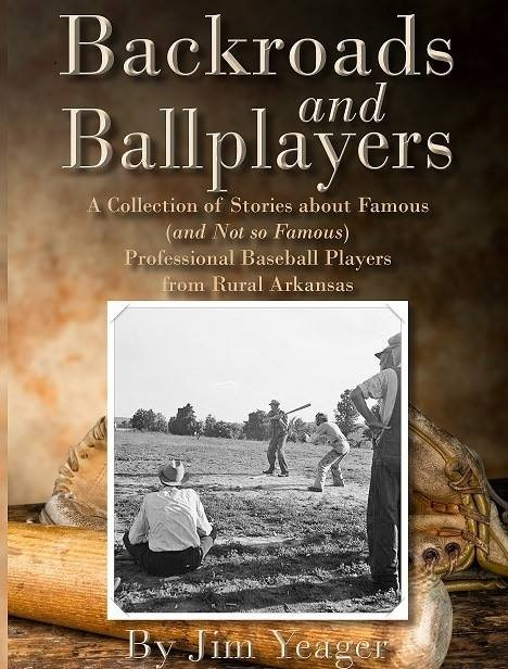 Cover of book, featuring a black and white picture of rural baseball players from mid-20th century